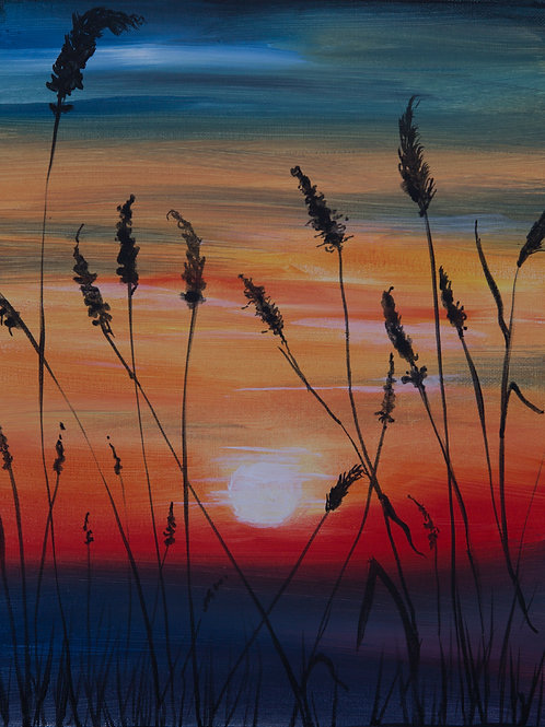"""Grassy Sunset"" RECORDED VIRTUAL PAINT CLASS"