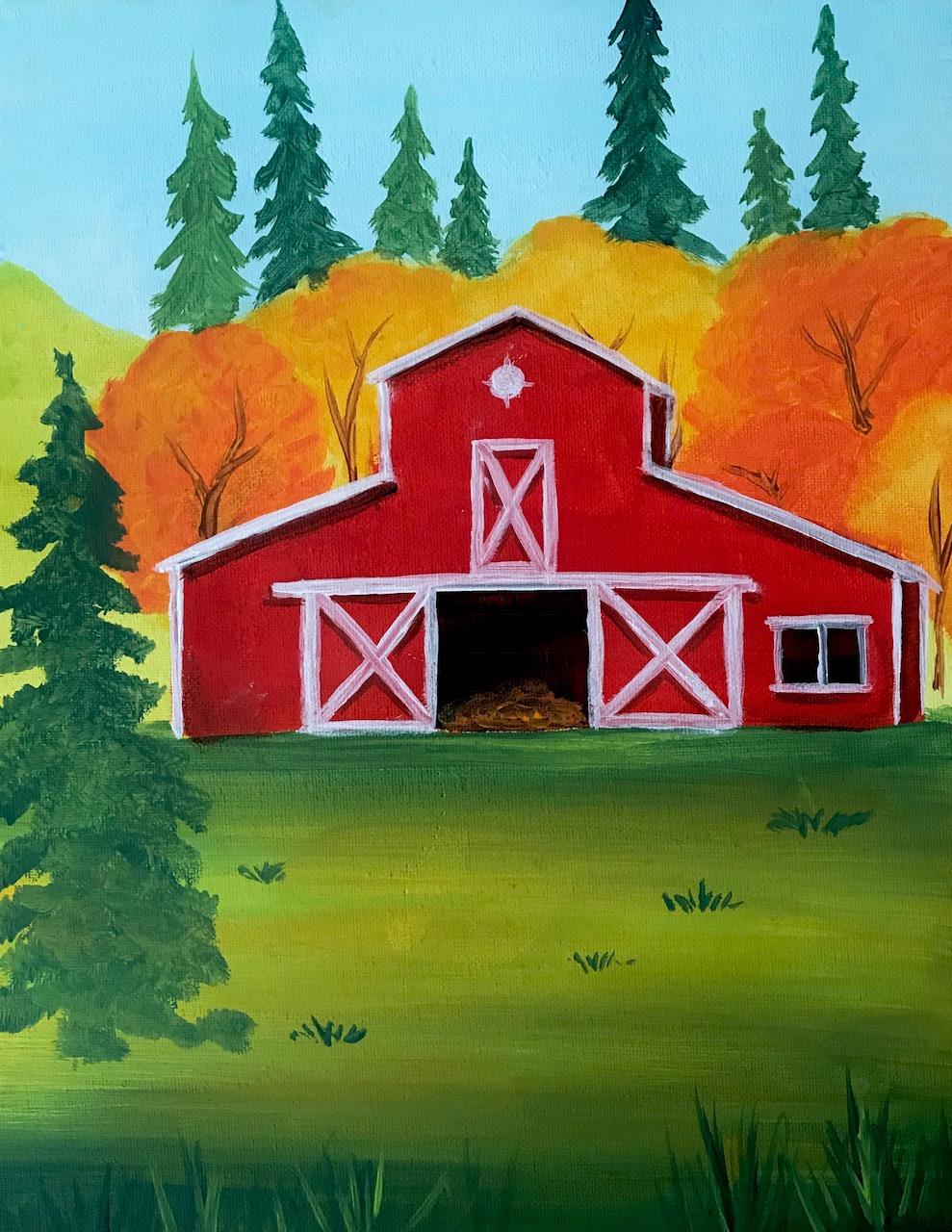 Fall Red Barn