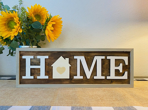 Home Sign with 18 Interchangeable Pieces