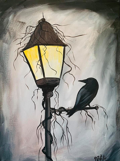 """Ghostly Lantern"" LIVE INTERACTIVE PAINT PARTY Tue, Sept 29th 6-8:3"