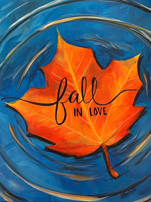 """Fall in Love"" RECORDED VIRTUAL PAINT CLASS"