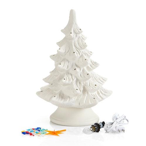 """17"""" Large Ceramic Lighted Tree - UNPAINTED"""