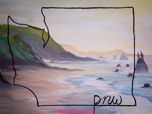 """PNW Coast"" RECORDED VIRTUAL PAINT CLASS"