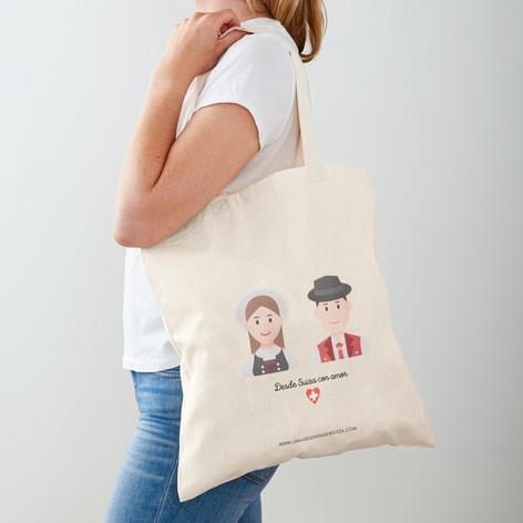 Bolsa de tela - Desde Suiza con amor EUR 11,26
