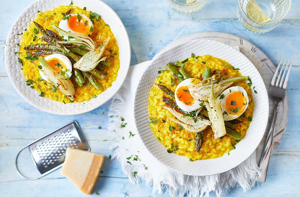 saffron risotto, comida en suiza
