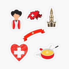 Pack de stickers - Suiza EUR 2,68
