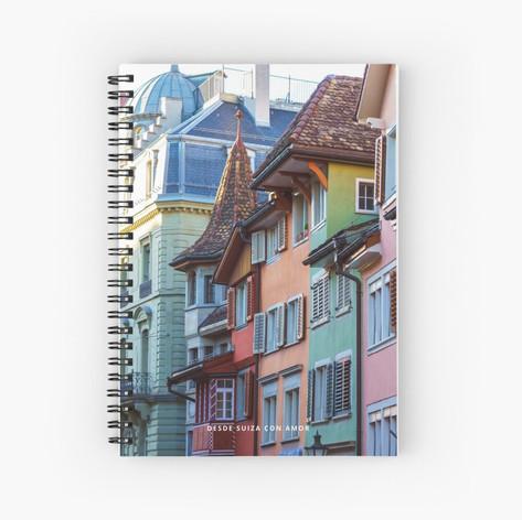 Cuaderno espiral estampado - Casas Suiza EUR 10,09