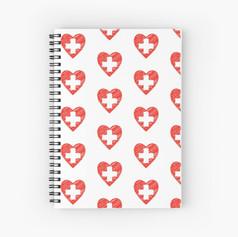 Cuaderno en espiral - Estampado corazón suiza EUR 10,09