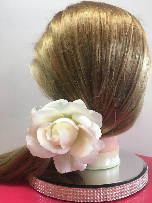 Single White Rose Hair Pin