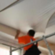Снять натяжной потолок