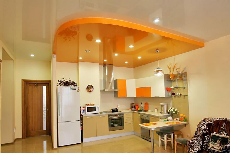 Натяжные потолки кухня минск