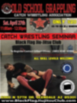 Catch Wrestling Seminar Black Flag Jiu-Jitsu Club Glendale AZ