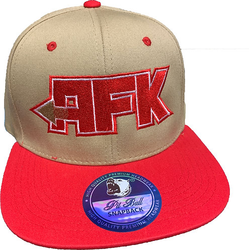 Khaki/Red AFK hat