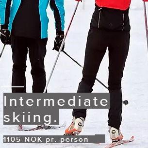 Intermediate skiing trip