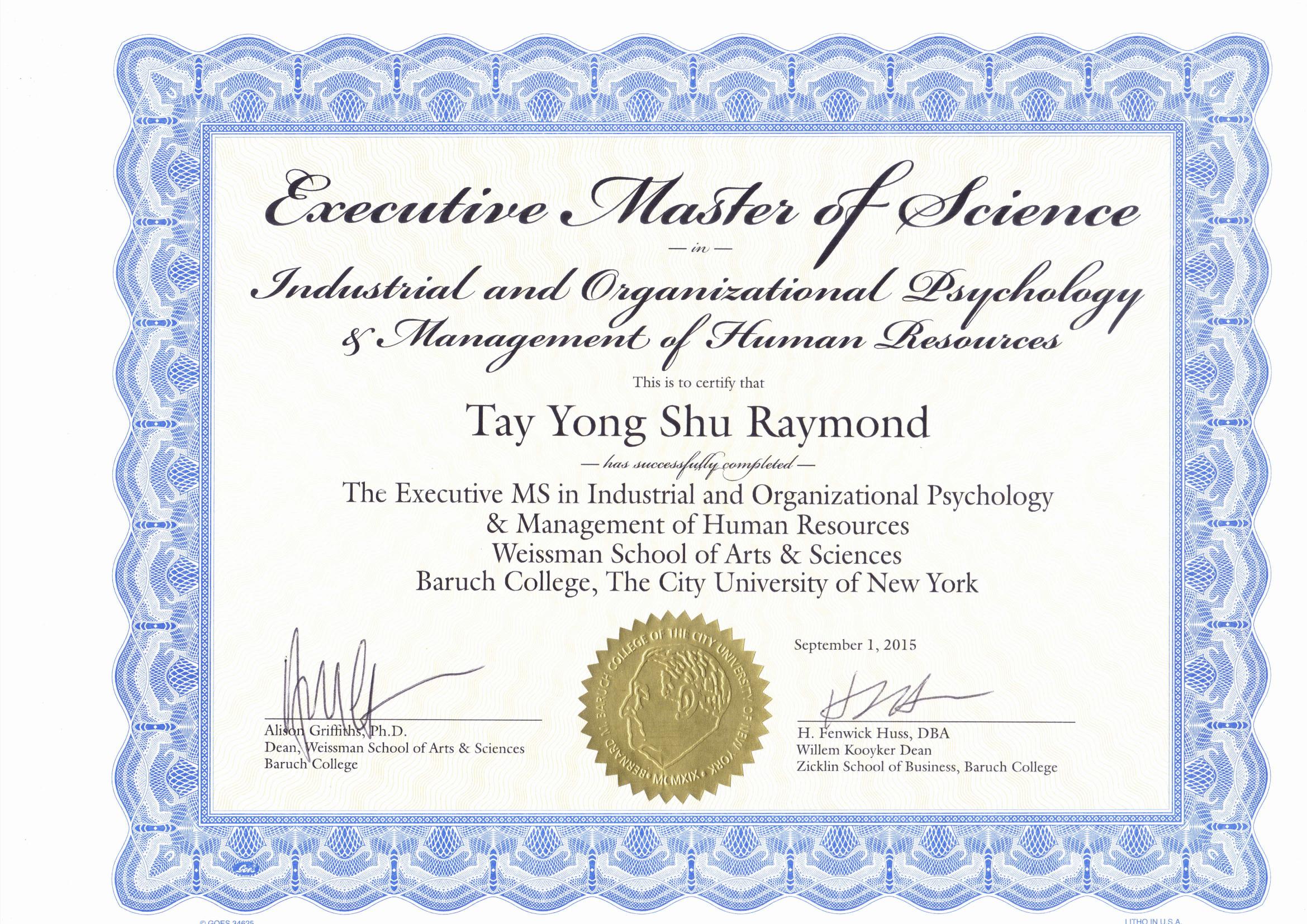 Raymond's Qualifications-1
