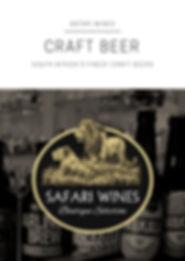Safari Wines Craft Beer Portfolio 2018