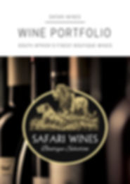 Safari Wines Wine Portfolio 2018