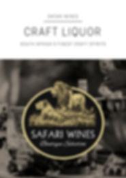 Safari Wines Craft Liquor Portfolio 2018