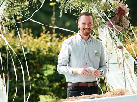 Svatební výzdoba z lučních rostlin