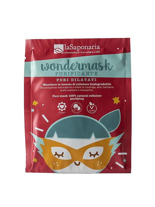 Wondermask - maschera Viso in tessuto purificante- LA SAPONARIA