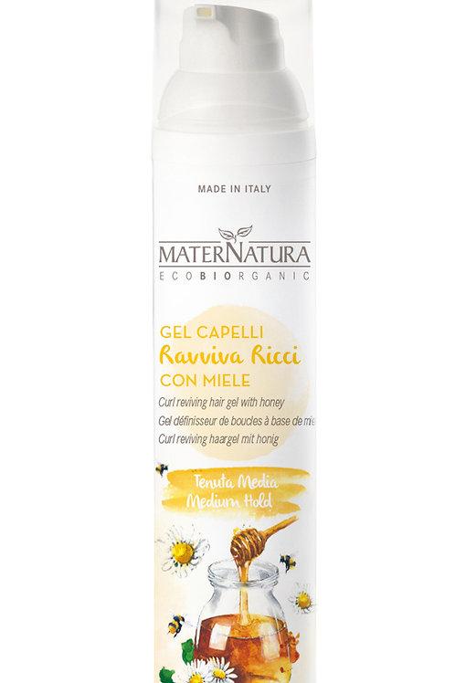 Gel ravviva ricci capelli con miele- MATERNATURA