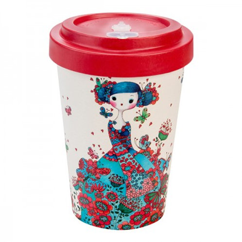 Bamboo Cup- Tazza in Bamboo MACARON RED- WOODWAY