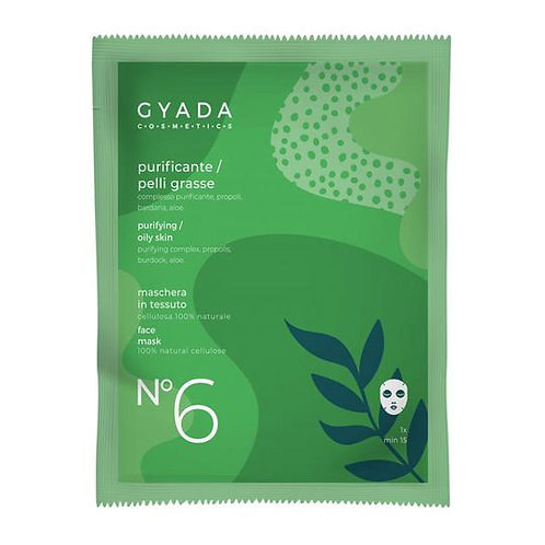 Maschera in Tessuto - N°6 Purificante/Pelli Grasse - GYADA