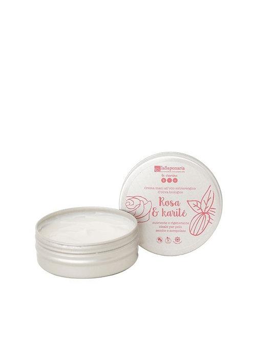 Crema mani rosa e karité- LA SAPONARIA