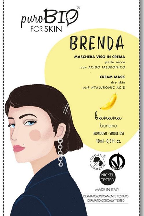 Brenda Maschera viso in crema per Pelle Secca con  Acido Ialuronico- PUROBIO