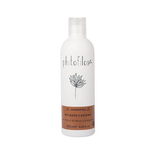 Shampoo Riflessante Castano con (Mallo e Indigo) - PHITOFILOS