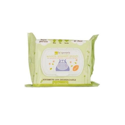Salviette detergenti delicate- LA SAPONARIA