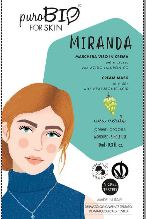 Miranda Maschera viso in crema per Pelle Grassa con  Acido Ialuronico- PUROBIO