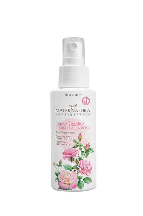 Spray Fissativo Capelli alla Rosa - MATERNATURA