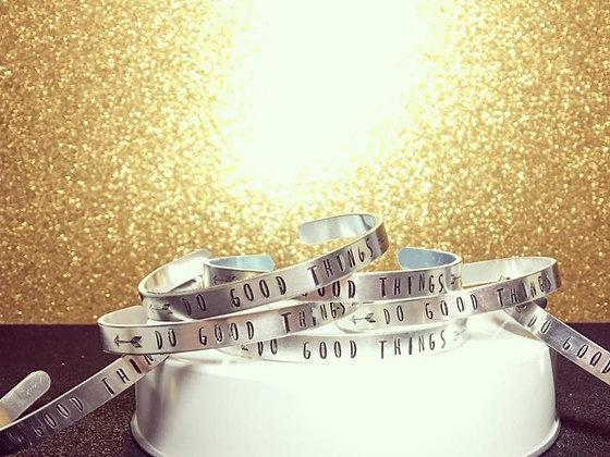 Do Good Things - Silver Memorial Bracelet
