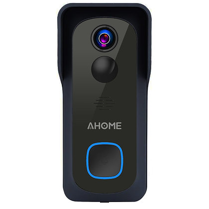 AHOME B1 Wi-Fi Video Doorbell with Free Chime, Full HD Wide Angle Camera, Black
