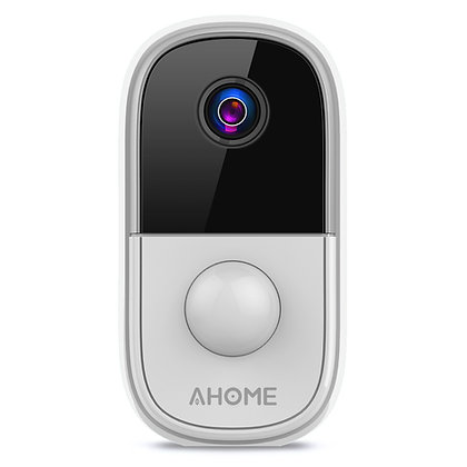 AHOME C1 Wireless Battery Camera Rechargeable with PIR Motion Detection, Silver