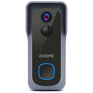 AHOME B1 Wi-Fi Video Doorbell with Free Chime, Full HD Wide Angle Camera, Grey