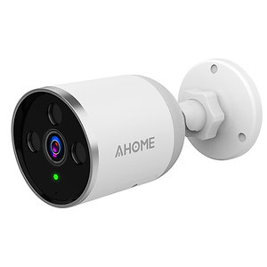 AHOME A1 WiFi Outdoor Camera, Motion Detection, Night Vision, 2-Way Audio, White