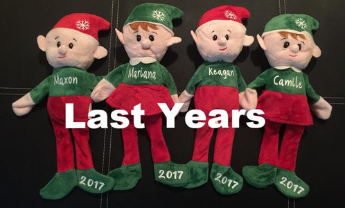 adorable 145x4 shelf sitting plush christmas elves