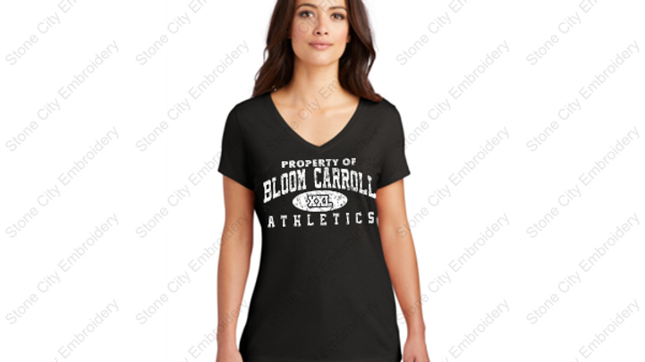 V Neck Perfect Tri T shirt Bloom Carroll Spirit Wear