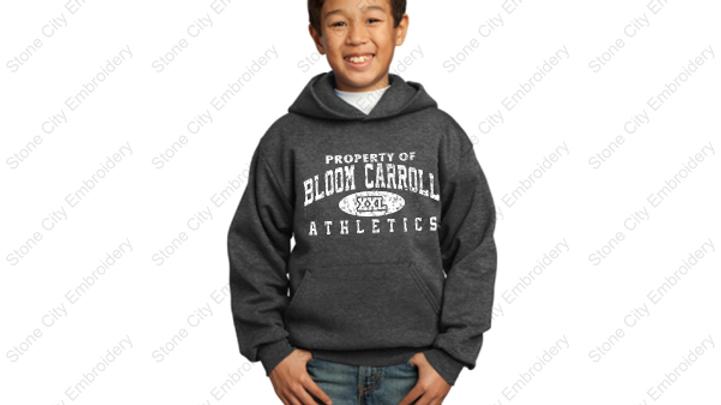 Youth Hoodie 50/50 Fleece Bloom Carroll Spirit Wear