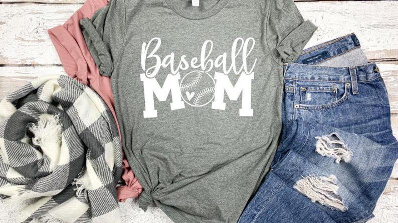 Baseball Mom Bella Canvas T shirt