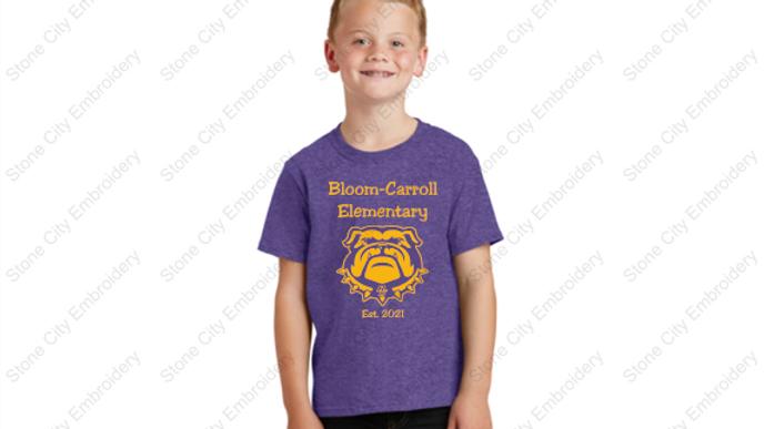 BCES Youth  T shirt Bloom Carroll Spirit Wear