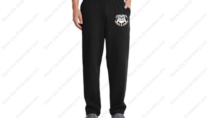 Port & Co Open leg Fleece Sweatpants Bulldogs