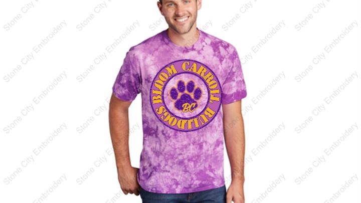 Adult Unisex  Tie Dye T shirt Bloom Carroll Spirit Wear