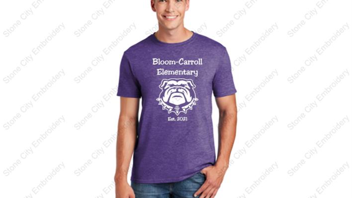 BCES Unisex Adult T shirt Bloom Carroll Spirit Wear