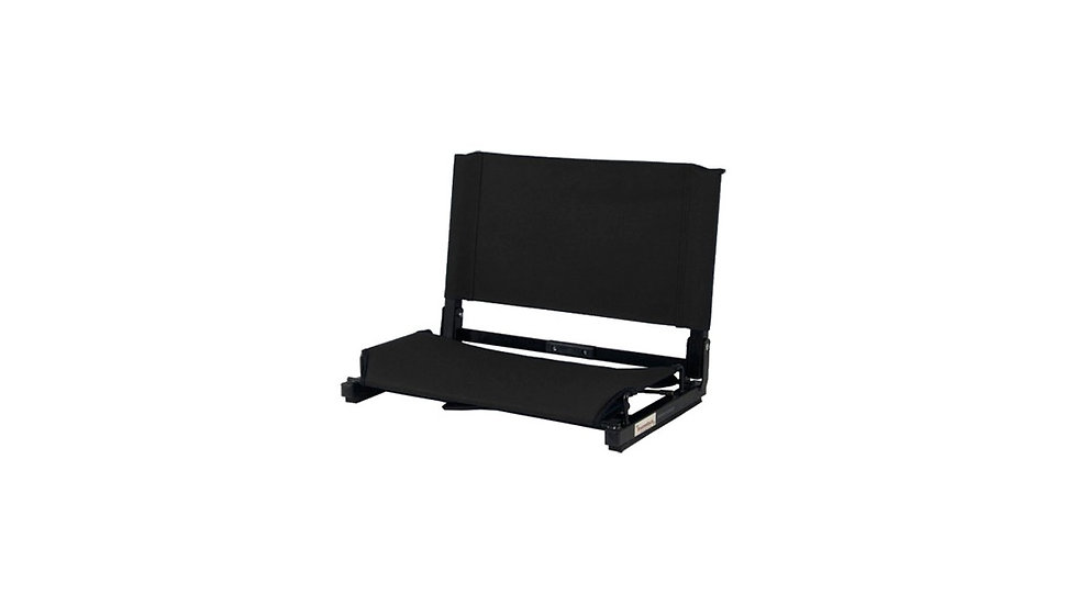 Deluxe WIDE Steel Frame folding BLACK