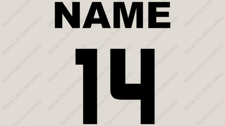 Custom Name or Name and Number - per item