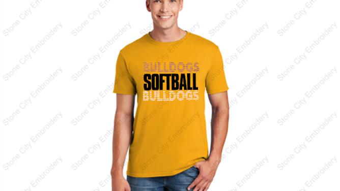 SOFTBALL Unisex Adult T shirt Bloom Carroll Spirit Wear