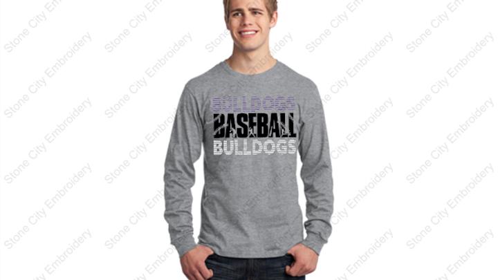 BASEBALL Long Sleeve Unisex Adult T shirt Bloom Carroll Spirit Wear